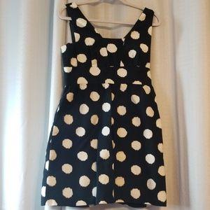 Ann Taylor Loft polka dot dress